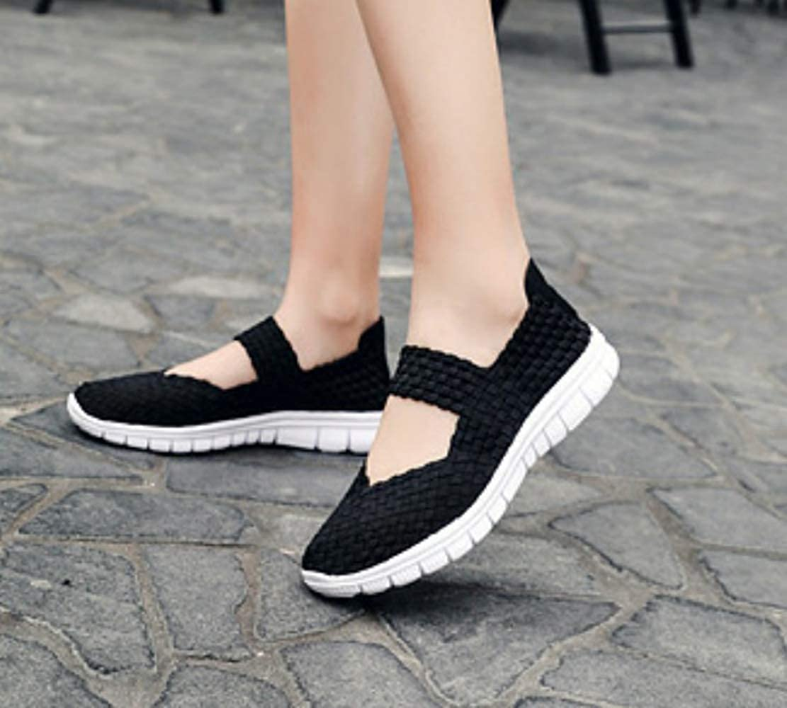WYSBAOSHU Casual Shoes for Women Lightweight Slip-Ons Elastic Trainer for Walking Relaxing