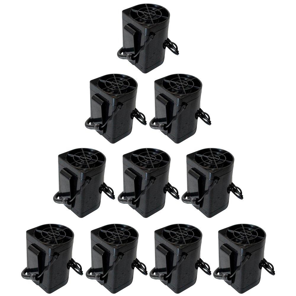 めちゃクール 空調ファン ジェットファン 空冷 冷風 送風 [専用7.4V モバイルバッテリー 充電ACアダプター 日本語取説 付属] 充電式 電動ファン MCJF01 B07DLRTVF2 10個セット 10個セット