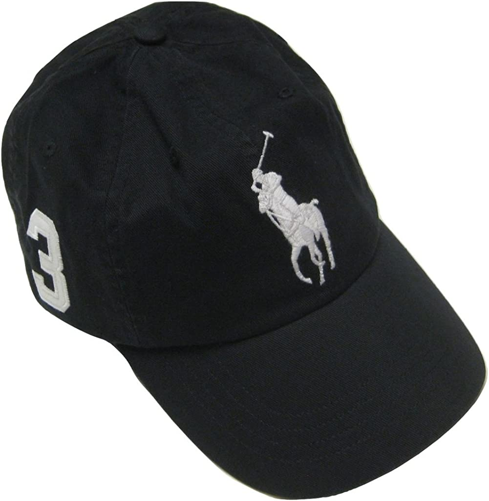 Polo Ralph Lauren Mens Big Pony Chino Sports Hat, Polo Black ...