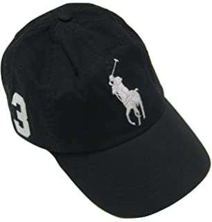 Casquette Pony Chino Lauren Sport Ralph Black Polo Big 0wOX8nPk