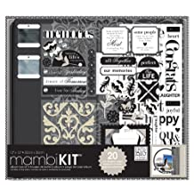 me & my BIG ideas 12-Inch x 12-Inch Scrapbooking Box Kit, Black and White, Neutral Memories
