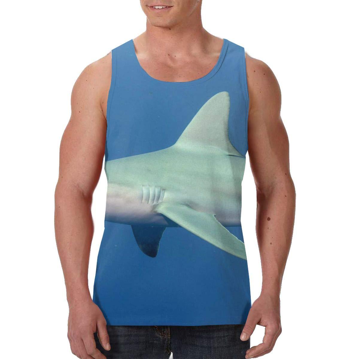 SHARP-Q Shark Men Tank Vest Man Funny Tank Tops