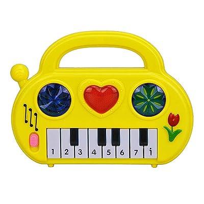 El teclado del juguete Órgano electrónico portátil Artístico Plástico multicolor Fiesta relajarse (Color : -, Size : -): Hogar