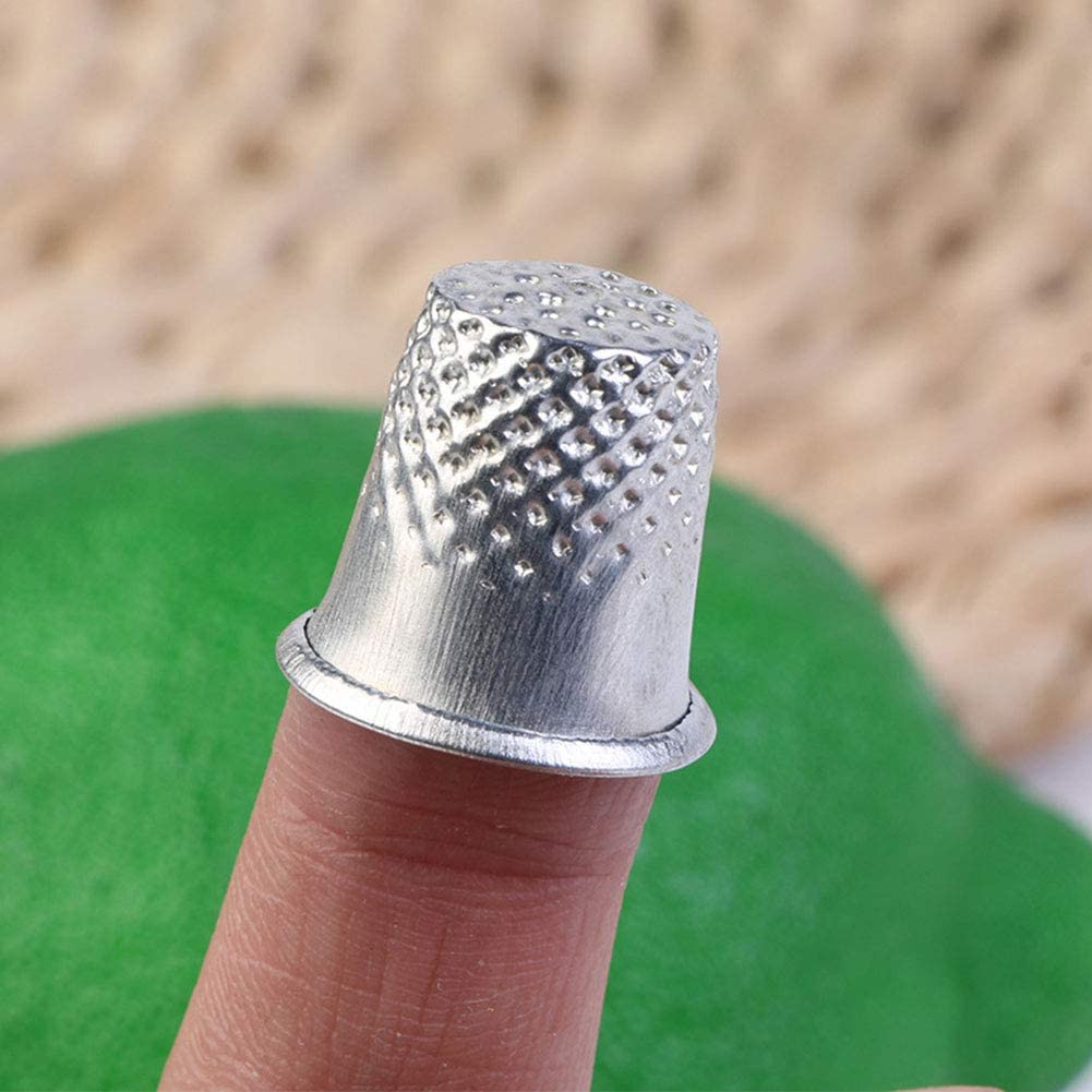 10Pcs Silver Sewing Metal Needle Shields Daily Hand Sewing Tools for DIY Crafts Thimble