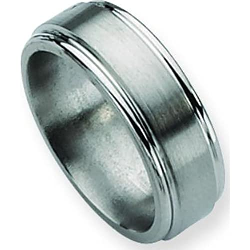 Titanium 8mm Brushed Mens Wedding Ring Band Size 13