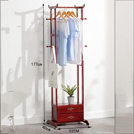 Amazon.com: Perchero para ropa de casa con cajón de madera ...