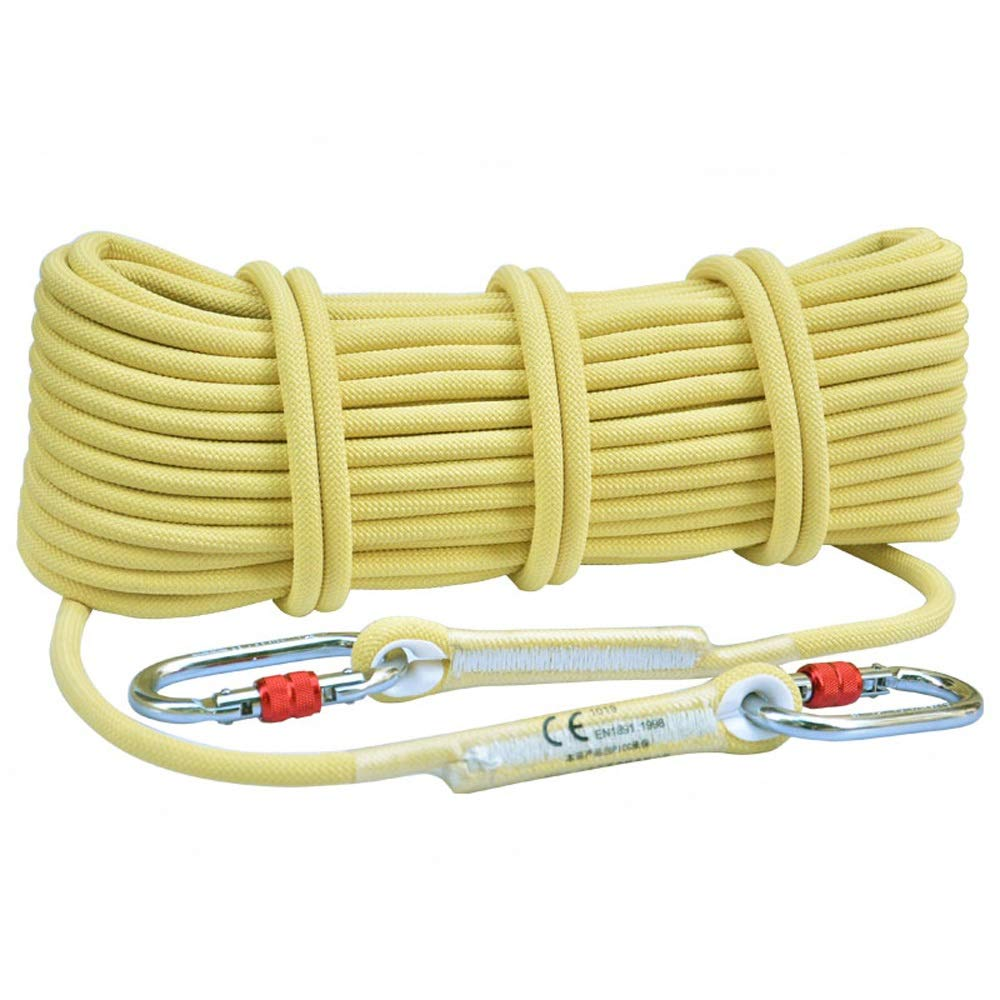 YX Xuan Yuan Rope- Kevlar Static Rope Climbing Rope Outdoor Safety Rope First Aid Equipment Wear Rescue Rope Climbing Rope Climbing Equipment, 2 Styles, 12 Sizes ////// (Color : 10.5mm, Size : 5M)