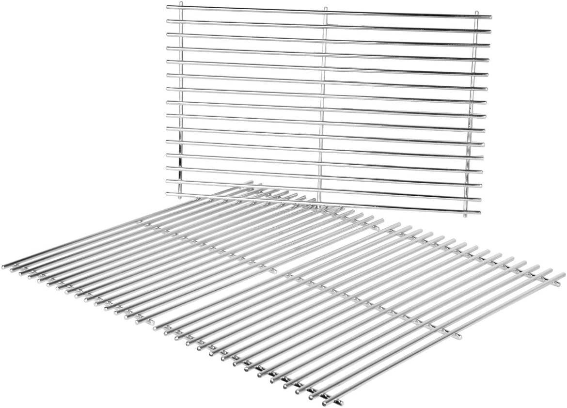 onlyfire BBQ Stainless Steel Grill Replacement Cooking Grate for Weber Genesis II and Genesis II LX 400 Series Gas Grills, 3pcs