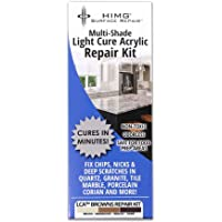 BROWN LIGHT CURE ACRYLIC REPAIR KIT FOR GRANITE, TILE, STONE, QUARTZ