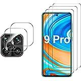 GESMA for Xiaomi Redmi Note 9 Pro/Note 9S/Note 9 Pro Max Screen Protector & Camera Lens Protector, [3 Screen Protectors…