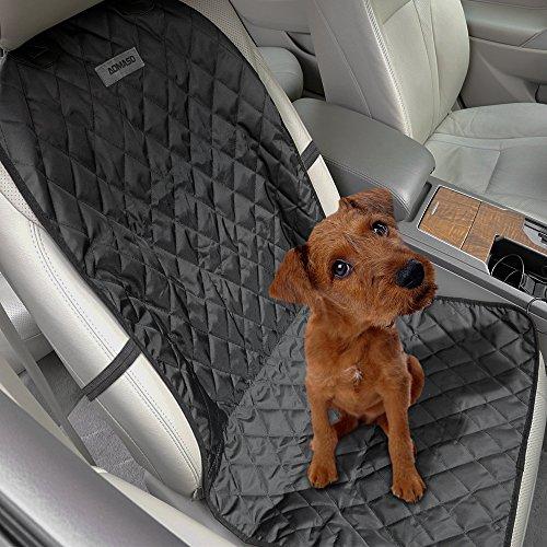 Aomaso Haustier Frontsitzschutz, Hängematte rutschfrei für Auto und SUVs mit Verankerung und Gurtöffnung - Schwarz