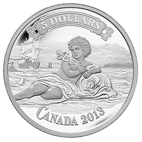 2013 Canada Mint Proof Fine Silver Coin   Canadian Bank Of Commerce Bank Note Design   Mintage  8500  5 Mint State Bmca