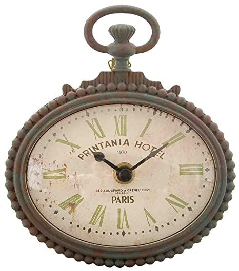 6KL0140 Clayre & Eef - Wall clock - Printania Hotel 1870 Paris ca ...