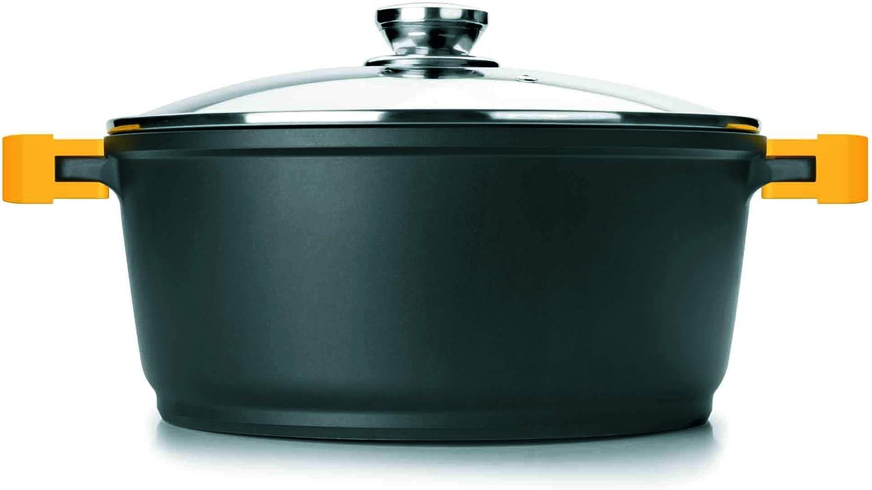 Ibili 461120 – Olla con tapa (Evolution aluminio fundido negro ...
