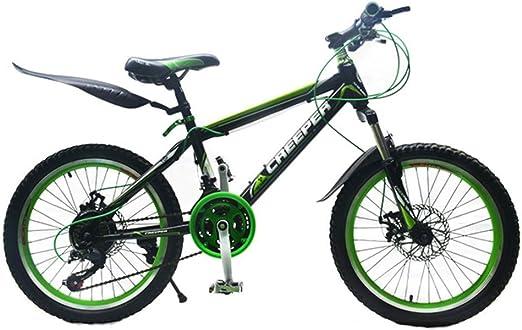 LQZHP Bicicleta Deportiva para niños de 20 Pulgadas para niños y ...