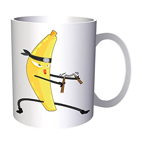 dibujos animados de ninja de plátano 330 ml taza v518 ...