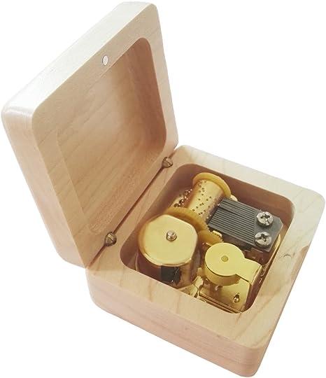 FnLy Caja Musical de Madera con Movimiento Chapado en Oro, Caja de ...