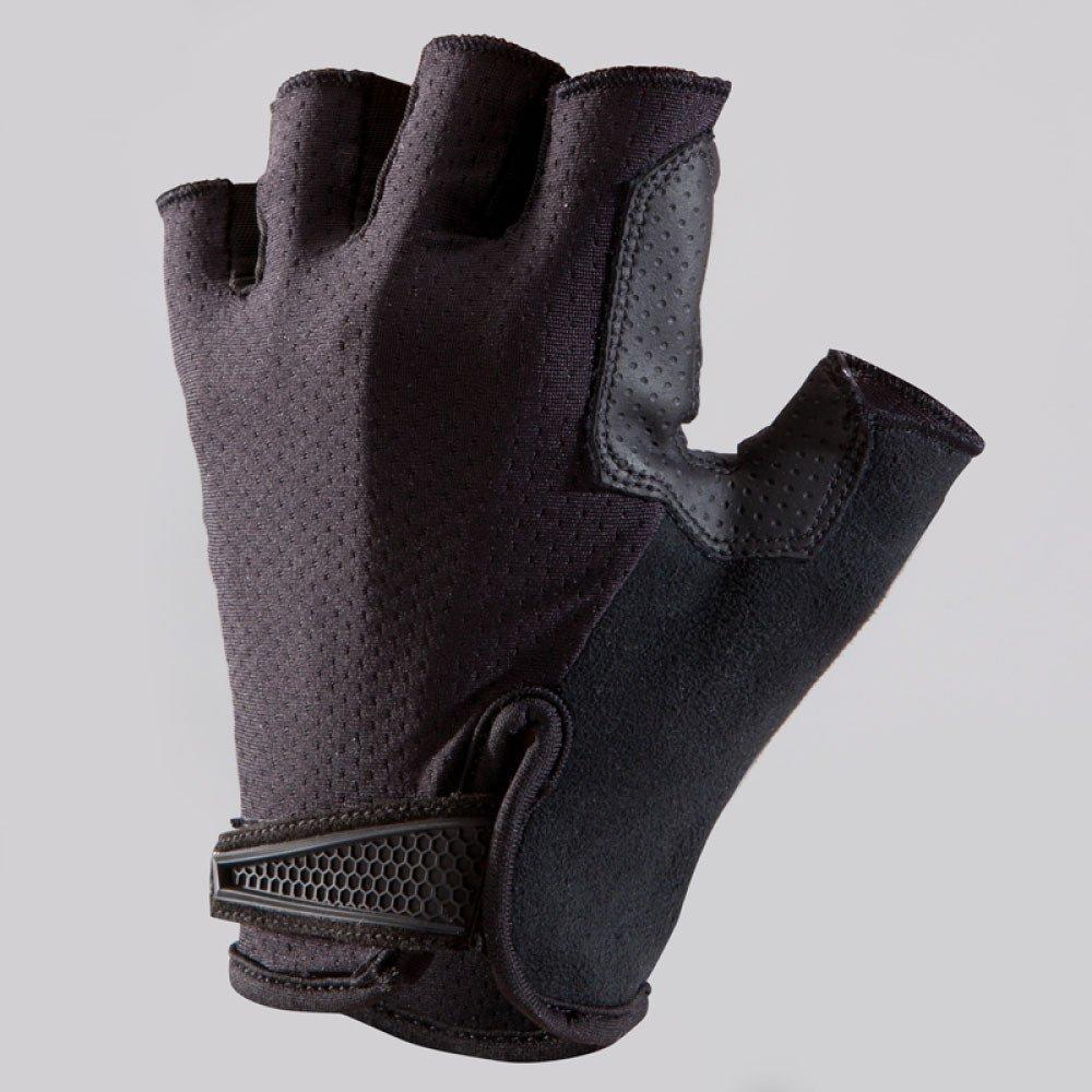 LDFN Half-Finger Gloves Anti-Rutsch-Dämpfung Komfort Für Den Lauf Fahren Skifahren Skating Klettern Training,schwarz-XL