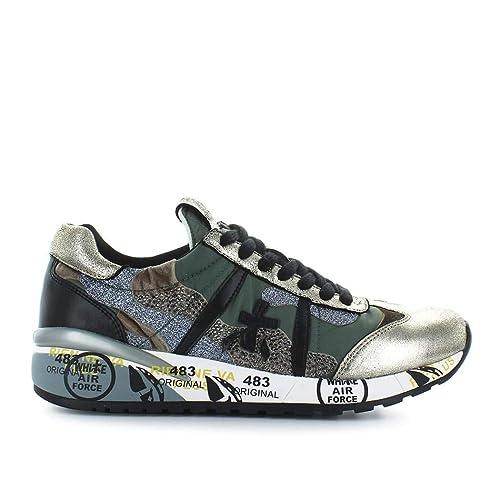 fb1a7bea41 PREMIATA Scarpe da Donna Sneaker Roxane 3309 Verde Oro Autunno ...