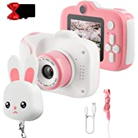 ETPARK Camara Fotos Infantil, Cámara para Niños Cámaras Delantera y Trasera 2,0 Pulgadas 12 megapíxeles HD 1080P 32GB SD…
