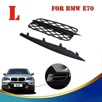 Delantero Lado Izquierdo Parachoques lateral parrilla y moldeado de ajuste para BMW X5 E70 2007 - 2010: Amazon.es: Coche y moto