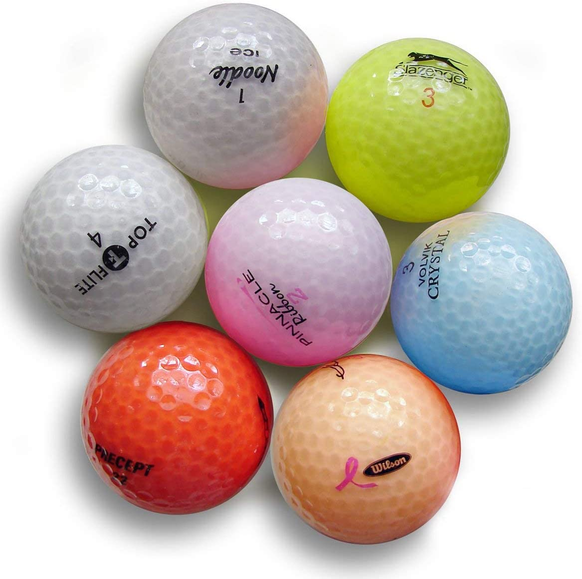 Pink Crystal Mix Golf Balls (50 Pack)