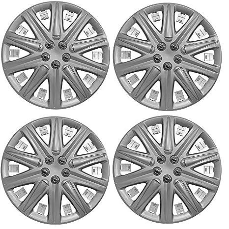 "Wing Mirrors World Hyundai Getz Coche tapacubos de plástico Cubiertas Boston 14 ""Plata"