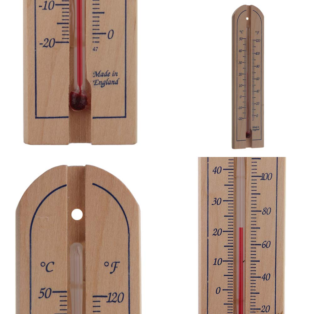 50°C 40° to 490745 Silverline Wooden Thermometer