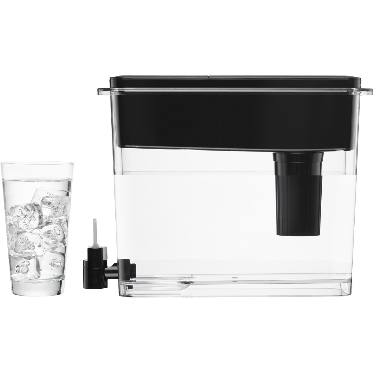Brita Extra Large 18 Cup Filtered Water Dispenser with 1 Longlast Filter, Reduces Lead, BPA Free – Ultramax, Jet Black by Brita (Image #7)
