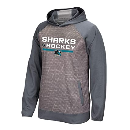 c14b1ca6f15 Amazon.com : adidas San Jose Sharks Reebok Center Ice TNT Authentic Locker  Pullover Hoodie Men's : Clothing
