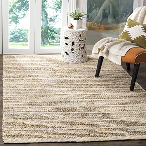 Safavieh Cape Cod Collection CAP851G Hand Woven Natural and Ivory Jute Area Rug (4' x 6')