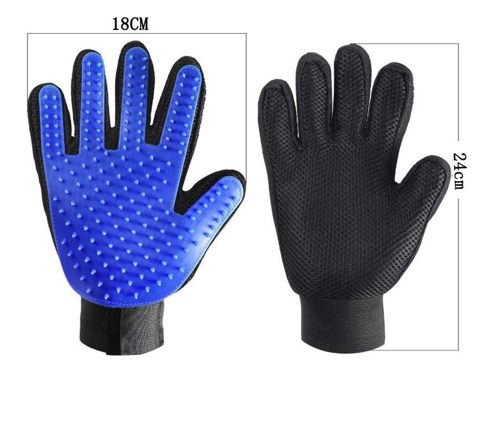 Gloves Pet Supplies Pet Gloves Silicone Finger Brush Dog, Cat Artifact (Color : Blue)
