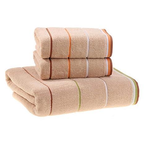 3 pcs conjuntos de Fashion diseño de rayas toalla de baño toallas de baño de hojas