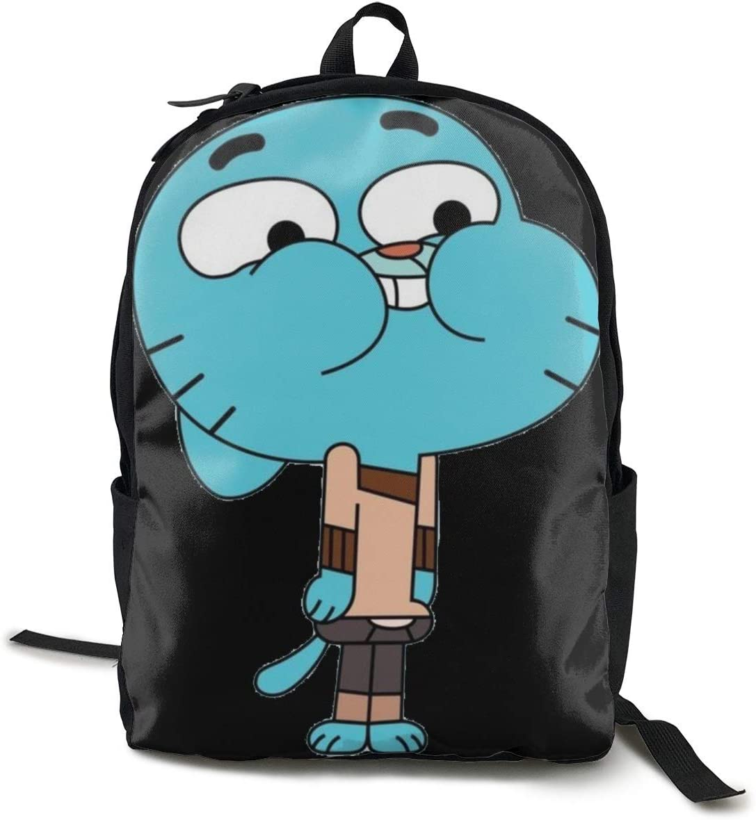 The Amazing World of Gumball Lightweight Teenager Backpack Black School Travel Shoulder Book Bag Daypack Sac /à Dos One Size