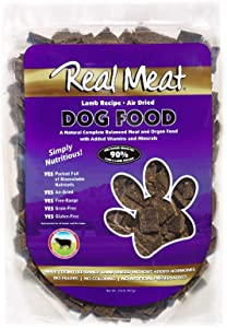 Real Meat Air-Dried Dog Food, Lamb
