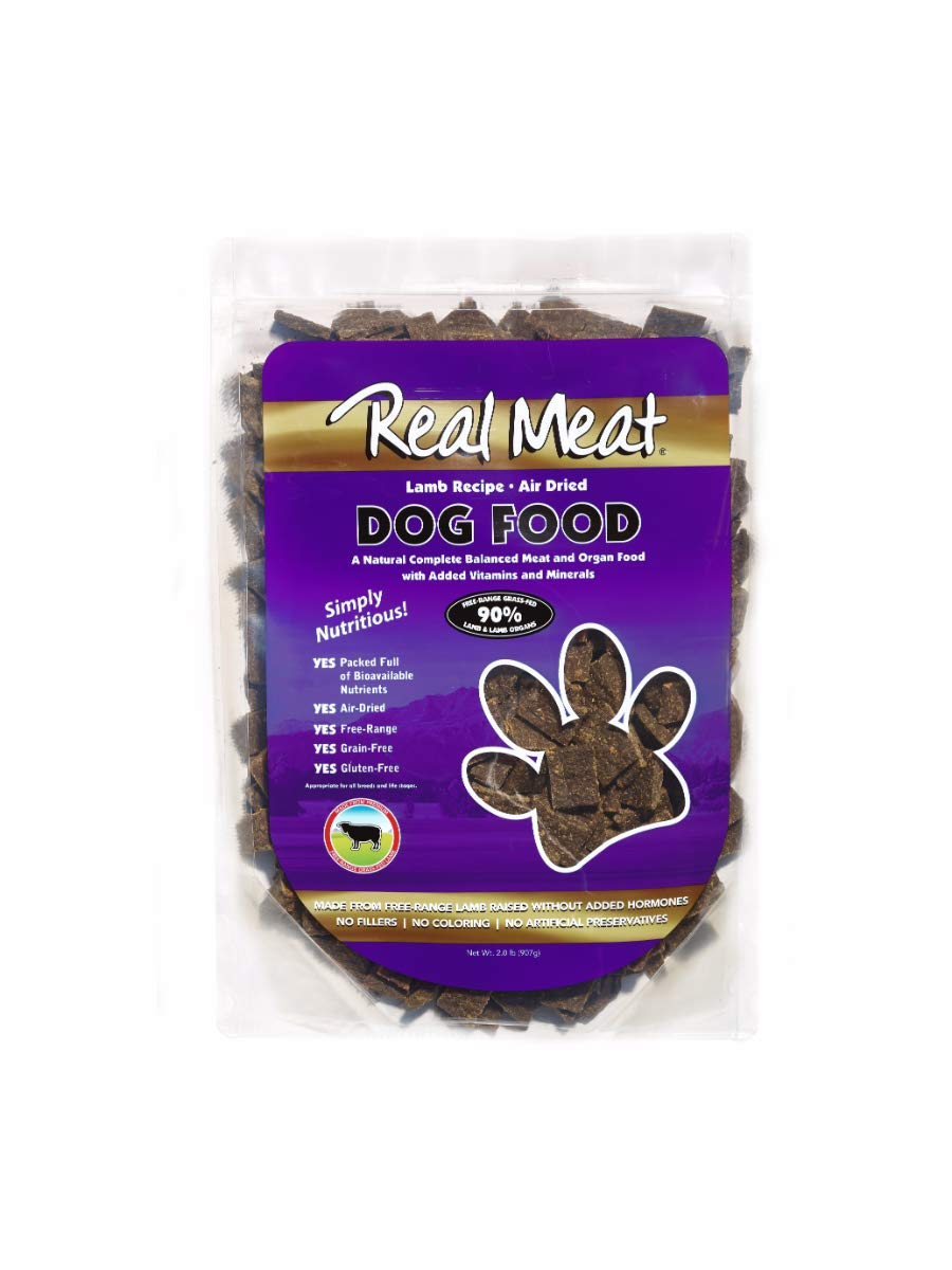 Real Meat Air Dried Lamb Pet Treat, 2 Lb by Real Meat