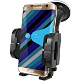 CaseGuru Car Windscreen Dashboard 360 Rotating Phone Holder for Samsung Galaxy S7 Edge With Free Car Charger
