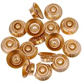 100pcs Speed Control Knobs Gold for Gibson Les Paul Guitar Control Knob Anti-clockwise