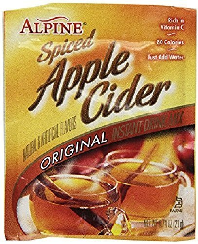 Alpine Spiced Apple Cider Drink Mix, Original, 0.74 oz, 60 - Apple Hot Spiced