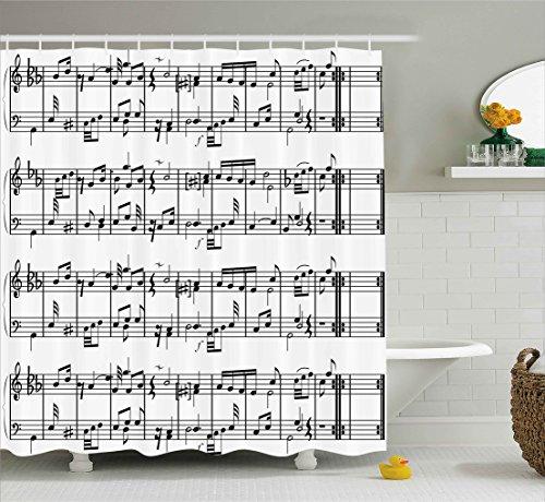 music shower curtain - 8