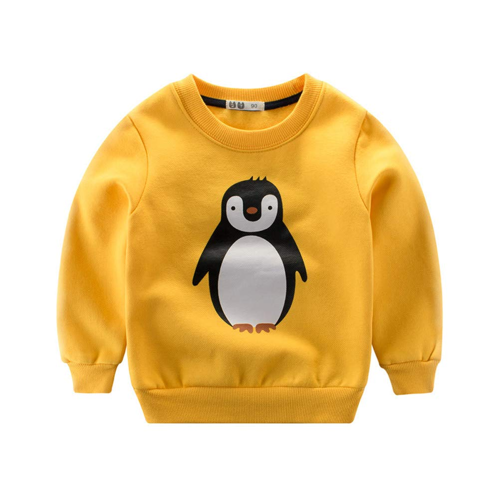 Amazon.com: Kids Tops Binmer Baby Boys Girls Cute Cartoon Animals Winter Warm Long Sleeve Tops Sweatshirt Outfits: Clothing