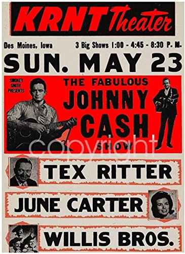 Amazon.com: Johnny Cash and June Carter Músico Cartel de ...