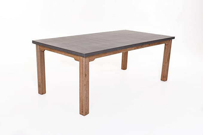 Milan Table Acacia et fibre ciment 73 x 200 x 100 cm: Amazon.fr: Jardin