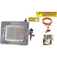 Rothenberger Industrial 035985F Chauffage Radiant Infrarouge de Chantier Piezo, 4200 W, Gris