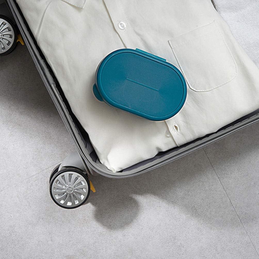 Azul HEALLILY Caja de Jab/ón Port/átil de Viaje a Prueba de Agua a Prueba de Polvo Jabonera con Tapa para Hotel Oficina en El Hogar 1Pc
