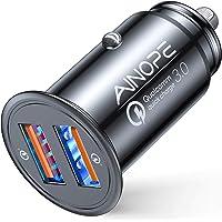 AINOPE Cargador Coche Usb, [Puerto Dual QC3.0] 36W / 6A [Todo Metal] Cargador Movil Coche Mini Cargador Coche Rapido…