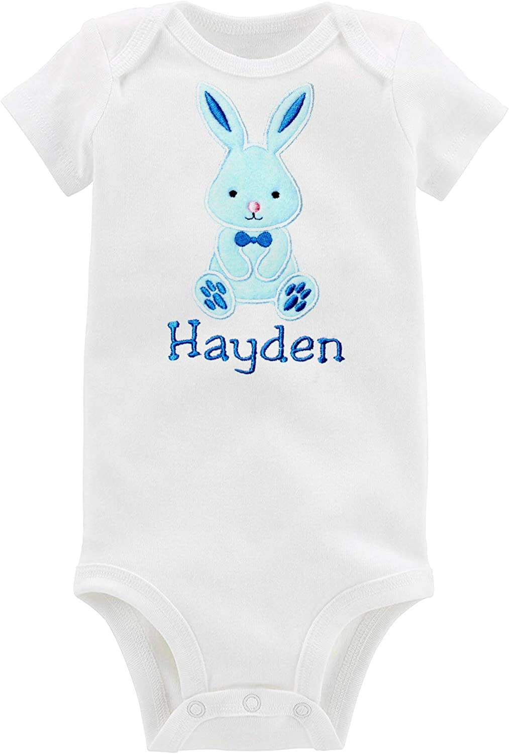 Baby Shower Baby Gifts Babies First Easter Bunny Cotton White Onesie Custom for Girl or Boy