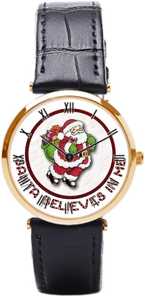 aromar CREE en mí piel reloj para hombre reloj de pulsera de modelo crear Humor barato de Papá Noel – Estuche para relojes: Amazon.es: Relojes