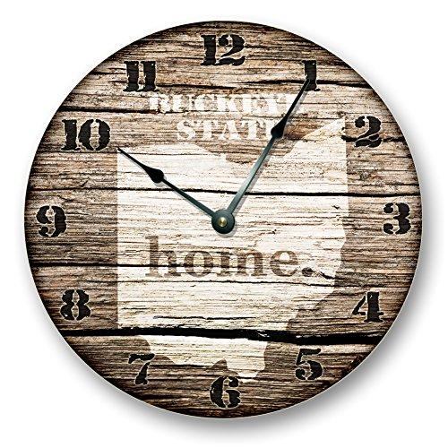 OHIO STATE HOMELAND CLOCK -BUCKEYE STATE - Large 10.5