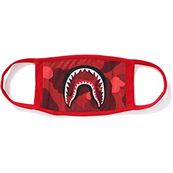 4126340951b A Bathing Ape Bape Japan 1st Red Camo Camouflage Shark Mouth Jaw Ski  Paintball Face Mask